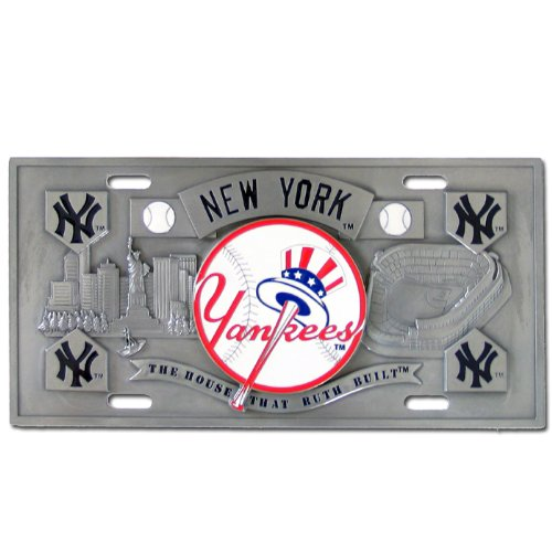New York Yankees Collector's License Pla - Pewter License Plate Shopping Results