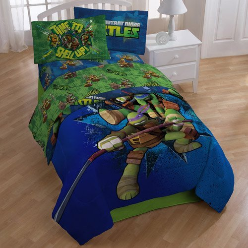 Teenage Mutant Ninja Turtles Shell Up 4pc Full Bed Sheet Set (Sheets Turtle Bed)