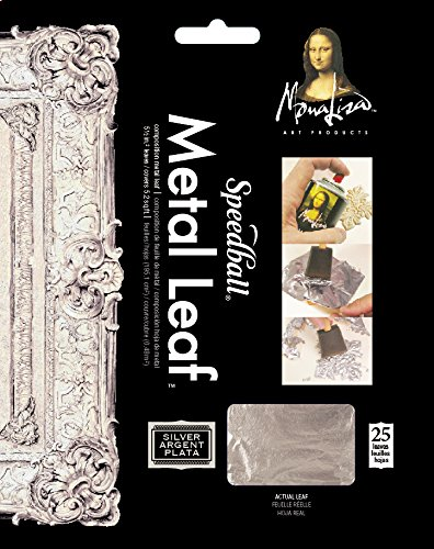 (Speedball 10206 Mona Lisa Composition Silver Metal Leaf Sheets, Metal Leafing Sheets Made of Aluminum - 25)