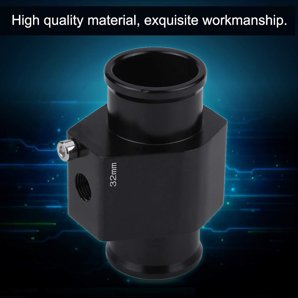 38mm Water Temp Joint Pipe Aluminum Car Water Temp Temperature Joint Pipe Hose Sensor Gauge Adapter Black