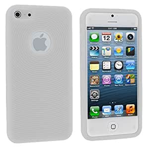 Accessory Planet(TM) Clear Circles Silicone Soft Gel Rubber Skin Case Cover Accessory for Apple iPhone 5 / 5S