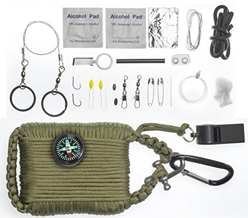 A2s survival gear paracord 30pcs emergency kit first aid for Survival fishing kit
