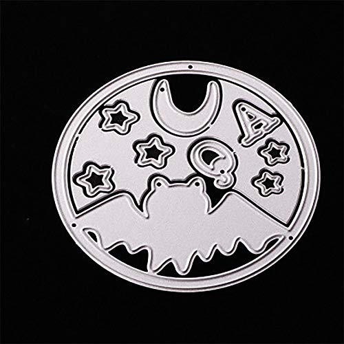 MOKO-PP Happy Halloween Metal Cutting Dies Stencils Scrapbooking Embossing DIY Crafts (E) -