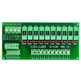 Electronics-Salon Panel Mount 10 Position Power Distribution Fuse Module Board, For AC110V .