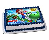 Mario Bros, odyssey Joshi, mario brothers Edible Cake Image Personalized Toppers Icing Sugar Paper A4 Sheet Edible Frosting Photo Cake Topper 1/4