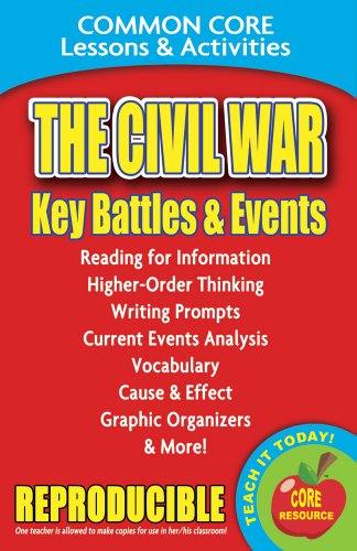 The Civil War: Key Battles and Events - Common Core Lessons and Activities