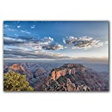 Grand Canyon sunset, large wall art canvas wrap, home and apartment decor, original photograph, ready to hang.