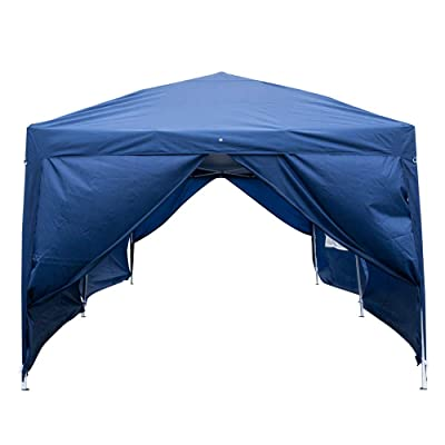 Anshunyin Waterproof Tent 3 x 6m Instant Folding Canopy Tent Party Wedding Event Tent Sun Shelter Outdoor Tent with 6 Side Walls 4 Windows,Patio Event Gazebo Beach Tent,Blue: Sports & Outdoors