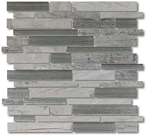 10 Square Foot Box of Dockside Porcelain and Glass Mosaics Strips - Rollers