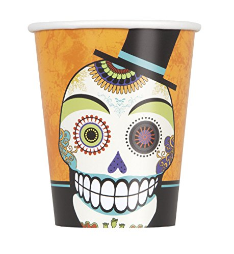 9oz Day of the Dead Halloween Party Cups, 8ct