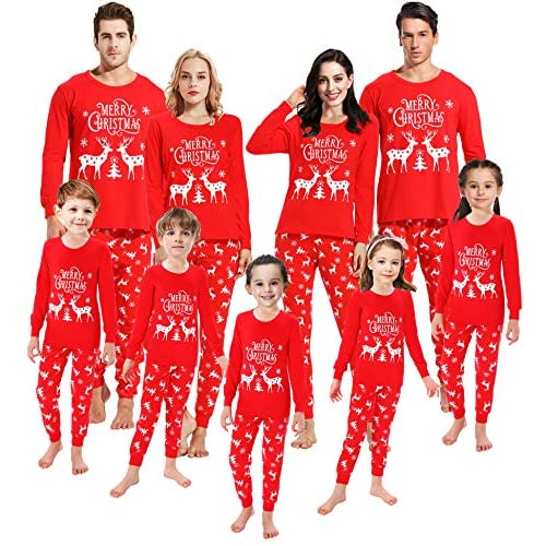 Matching Family Pajamas Christmas Boys /& Girls Red Striped Baby Clothes Womens S