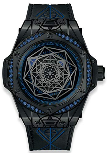 Hublot Big Bang Sang Bleu All Black Blue Sapphires Womans Watch