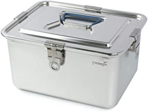 All Stainless Steel Airtight Food Storage Container ( 6.8L, 230 oz, 28.3 cups )