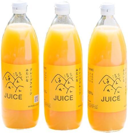 河内晩柑ストレートジュース 3本セット 愛媛県愛南町産果実【贅沢な果汁100%】