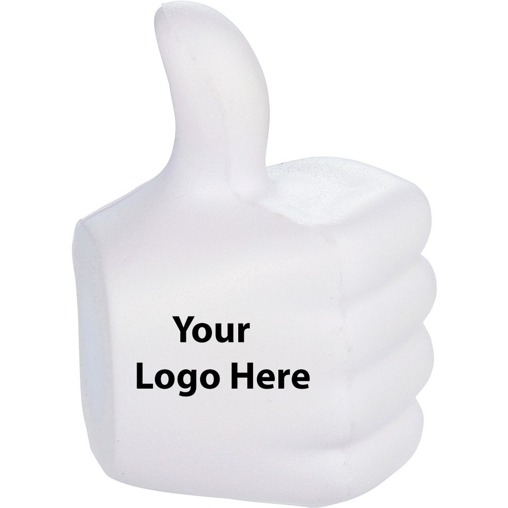 Thumbs Up Stress Reliever - 300 Quantity - $1.30 Each - PROMOTIONAL PRODUCT / BULK / BRANDED with YOUR LOGO / CUSTOMIZED