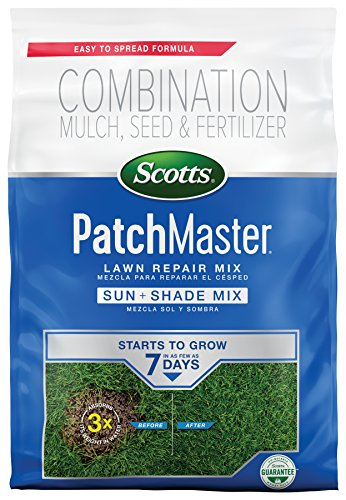 Scotts PatchMaster Lawn Repair Mix Sun and Shade Mix - 10 lb, All-In-One Bare Spot Repair, Feeds For Up To 6 Weeks, Fast Growth and Thick Results, Covers Up To 290 sq. ft.