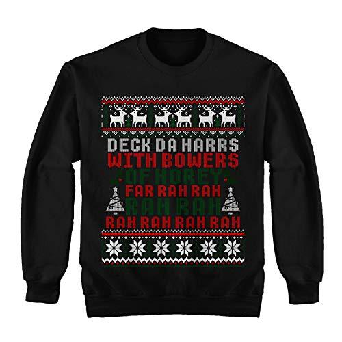 Deck Da Harrs with Bowers of Horey FA Rah Rah Rah Ugly Sweater Shirt - Merry Xmas Noel Sweatshirt