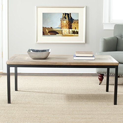 Safavieh American Homes Collection Dennis Oak Coffee Table (Table And Coffee Cream Oak)