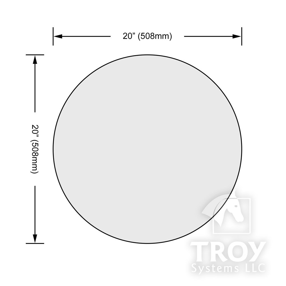 20'' Inch Round Glass Table Top, 1/2 Thick, Beveled Edge, Tempered Glass by TroySys (Image #6)