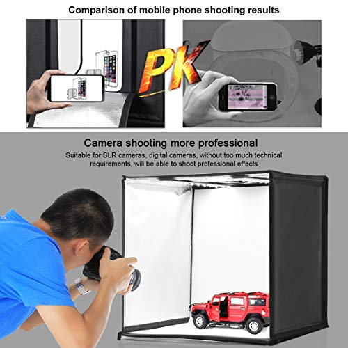 KXIN Photo Studio Box 24 inch Light Box Photography Light Tent, Professional Foldable Shooting Lighting Softbox 3 Colors Photography Waterproof Background Screen & Carrying Bag,UKplug by KXIN (Image #7)