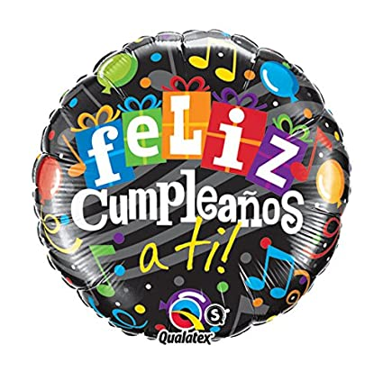 Amazon.com: PIONEER BALLOON COMPANY Feliz Cumpleanos a Ti ...