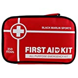 XL First Aid Kit (350 Piece) Compact for Emergency Bag at Home, Outdoors, Car, Camping, Office/Workplace, Backpacking, Cycling, Adventures, Hiking & Survival; at Home & Work