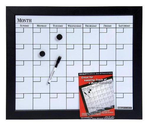 Dooley Boards Black Framed Magnetic Calendar Dry Erase Board, 18 x 22 Inch, Black (1824CALMG) (Barn Frames Pottery)