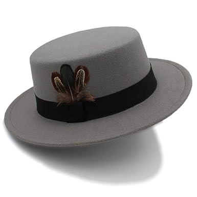 ZITEZHAI-hat 2018 Pork Pie Hat Men Tan Wool Fedora Hats Winter Bowler Women  Brown 334dd3d83