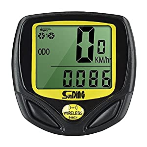 Wireless Bike Computer, Gobike Waterproof Cycle Speedometer Automatic Wake-up Backlight for Tracking Riding Speed and Distance