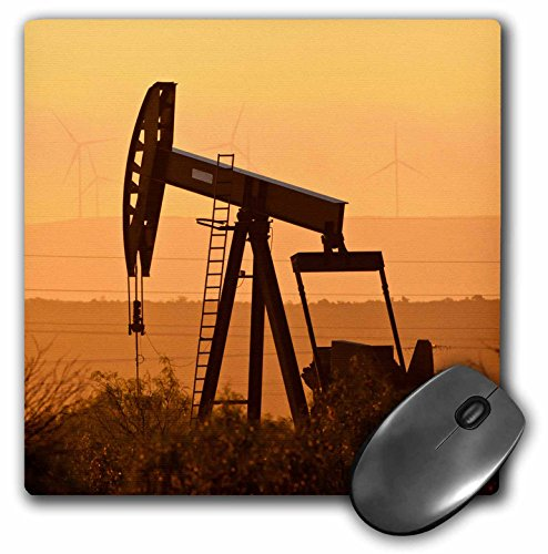 3dRose Pump Jack Pumping Oil in West Texas, USA - Mouse Pad, 8 by 8
