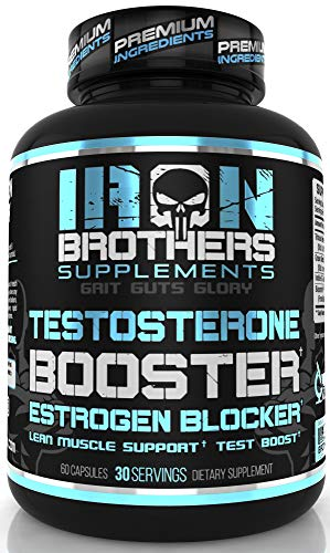 - Testosterone Booster for Men with Estrogen Blocker - Anti Estrogen Dietary Supplements - Indole - 3 - Carbibole & Tribulus Terresttris - Pack of 60 caps - Boost Muscle Growth & Fat Loss (1 Bottle)