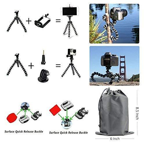 SmilePowo 18-in-1 Accessory Kit for GoPro Hero5 Black, Hero5 Session, Hero 4 Silver Black, Hero Session, Hero3+,3,2,1 SJ4000,5000,6000,XIAOMIYI,2,Sports Camera Accessories,Gopro Bundle