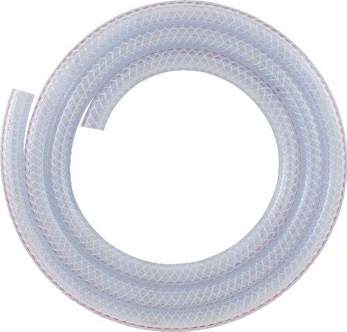 LDR 516 B3810 Clear Braided Nylon Tubing, 3/8-Inch ID