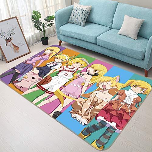 - 3D Monogatari Series 040 Japan Anime Game Non Slip Rug Room Mat Round Quality Elegant Carpet US AJ WALLPAPER Maze (H120cmxW180cm【47.2