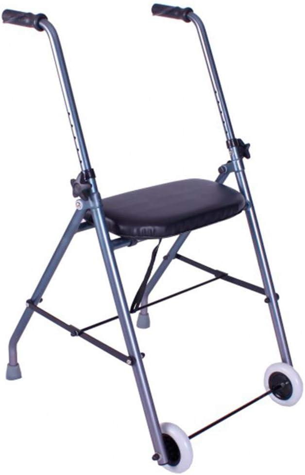 Queraltó Andador de Aluminio Muy Ligero, Plegable y de Fácil Uso para Adultos, 67-95 cm