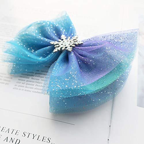 Disney Parks Navy Silver Blue ⭐️ Elsa Light Up Hair Bow