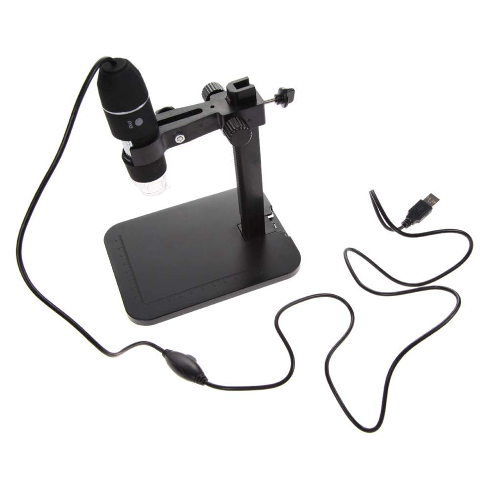 Black UKCOCO 2MP USB 1000X 8 LED Digital Microscope Endoscope Magnifier Camera+Lift Stand Hot