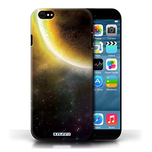 Kobalt® Imprimé Etui / Coque pour Apple iPhone 6/6S / Éclipse Jaune conception / Série Cosmos