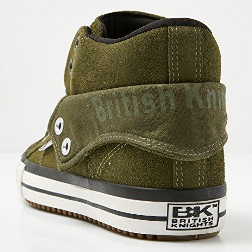 British Knights Herren ROCO Hohe Sneaker Khaki