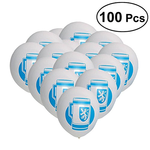 TOYMYTOY 100pcs Oktoberfest Balloons Decorative Latex Balloons Party Supplies for Festival Celebration for $<!--$13.99-->