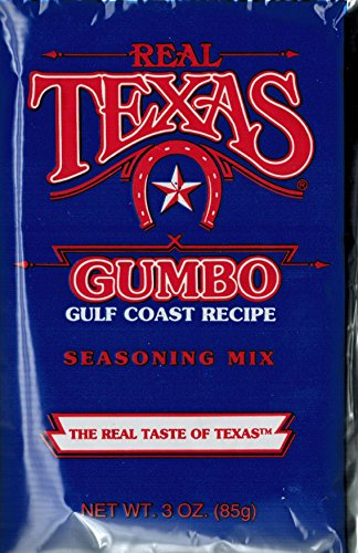 Real Texas Gumbo Gulf Coast Recipe Seasoning Mix 3 ounce (4 Pack)