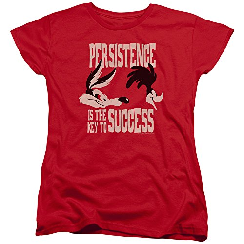 shirt De Red Tunes Pour T Persistance Looney Femmes qRESCFS