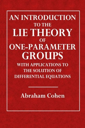 An Introduction to the Lie Theory of One-Parameter Groups