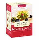 Numi Organic Tea Flowering Tea Blooming Petals, 6 Count Flowering Tea (Pack of 4)
