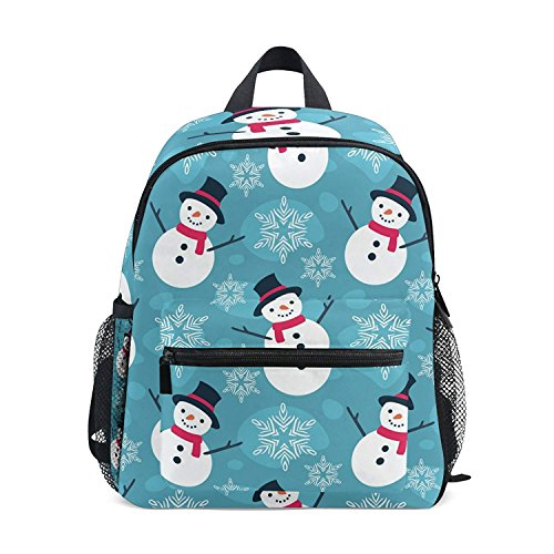 Mini Backpack Funny Snowman Snowflakes Lightweight Cute for Girls ()