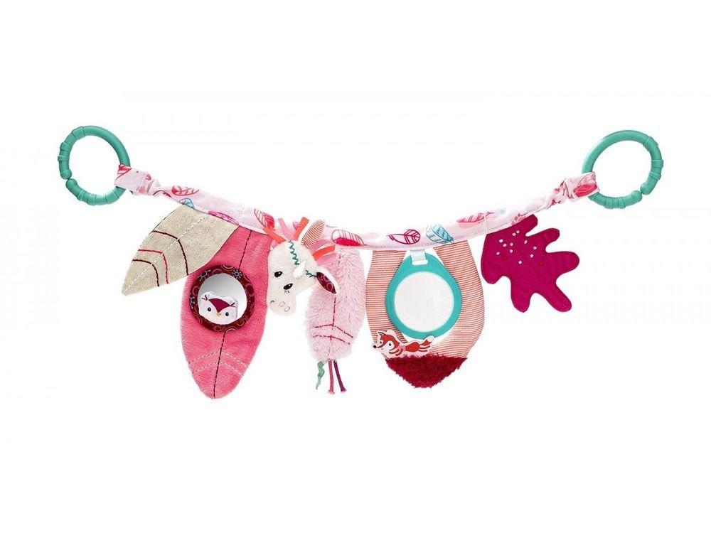 Lilliputiens 83018 Aktivitätsspielzeug Babytrage / Kinderwagen Spielzeug für Babys, Design Louise, das Einhorn - Maße: 46 x 15 x 2 cm, ab 0 Monaten Design Louise