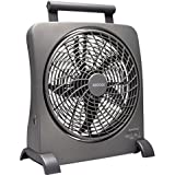 O2COOL 10-Inch Portable Smart Power Fan with AC Adapter & USB Charging Port by O2COOL