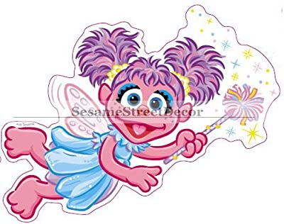 "6"" Abby Cadabby Sesame Street Removable Peel Self Stick Adhesive Vinyl Decorative Wall Decal Sticker Art Kids Room Home Decor Girl Boy Children Bedroom Nursery 6 x 5 inch tall"