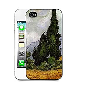 Case88 Designs Van Gaho Art Gallery Oil Painting Collections Wheat field with cypresses Protective Snap-on Hard Back Case Cover for Apple Iphone 4 4s by icecream design