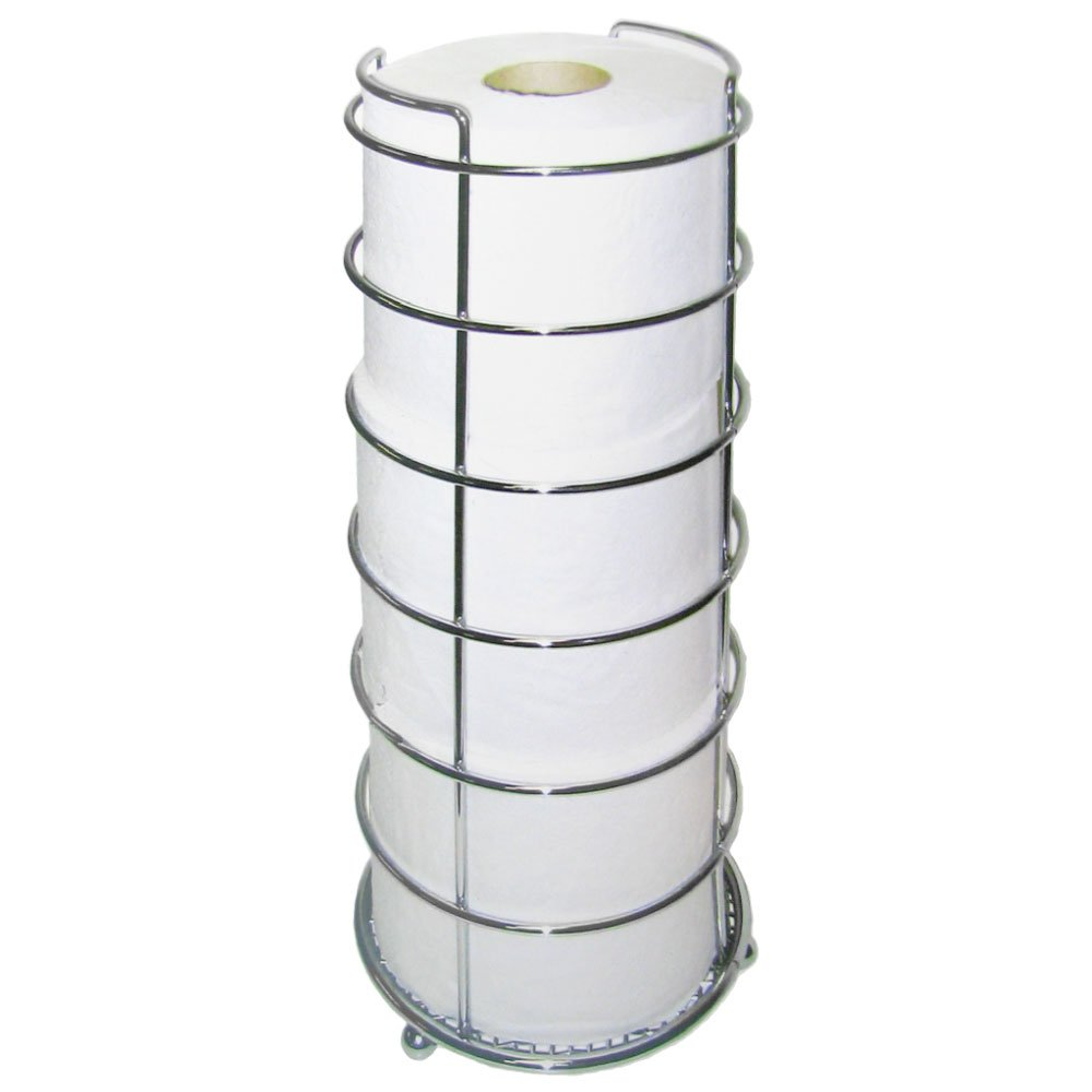 KENNEDY HOME Chrome Toilet Paper Holder - Holds 3 Rolls
